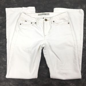 Joes Jeans Size 27 White Boot Cut Stretch